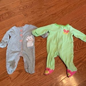 Carters newborn button up outfits